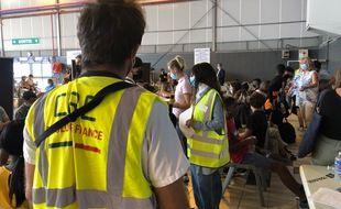 Lors de la première journée de vaccination des collégiens de Haute-Garonne à Toulouse.
