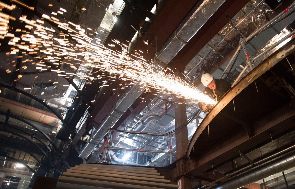 Construction du paquebot MSC Meraviglia aux chantiers navals STX de Saint-Nazaire. – S.Salom-Gomis/Sipa