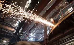 Construction du paquebot MSC Meraviglia aux chantiers navals STX de Saint-Nazaire.