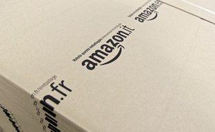 Illustration de l'entreprise de vente sur le web Amazon.