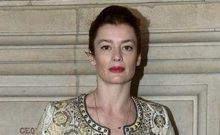 Aurélie Dupont lors de la conférence de presse autour de son départ du ballet de l'Opéra Garnier le 14 avril 2015