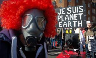 Une manifestation pour le climat à Londres en mars 2015.