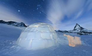 Un igloo construit par des scientifiques en Antarctique
