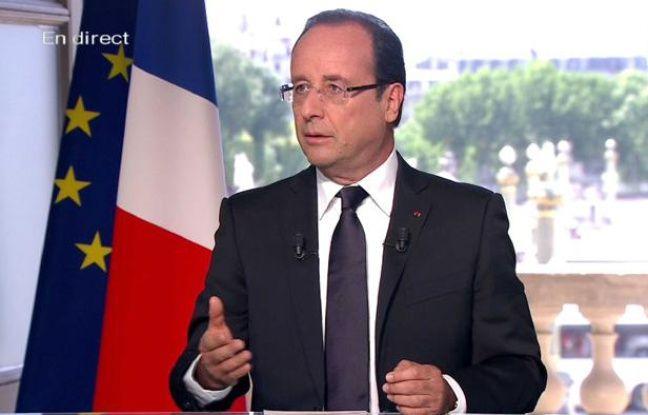 François Hollande, lors de l'interview du 14 juillet 2012