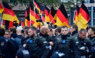 Sur le modèle des manifestations de Chemnitz (photo), d'autres sont organisée à Kandel, au sud-ouest du pays.