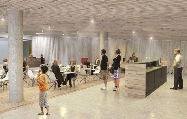 Un restaurant sera installé au rez-de-chaussée de la future MECA, Maison de l'économie créative et de la culture d'Aquitaine