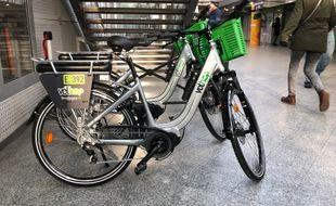 Le nouveau vélo électrique de Velhop. Strasbourg le 8 décembre 2020.