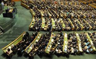 La 66e session de l'Assemblée Générale des Nations Unies, à New York, le 21 septembre 2011.