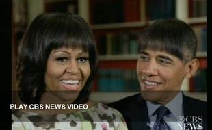 Capture d'écran de la vidéo diffusée lors du dîner annuel de la presse à Washington, le 27 avril 2013.