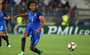 Wendie Renard a retrouvé le brassard de capitaine lors de France-Grèce, le 17 septembre 2021.