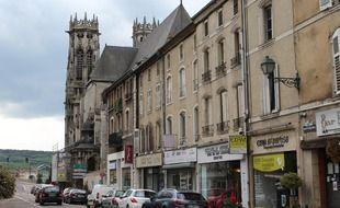 La rue Gambetta, à Pont-à-Mousson.