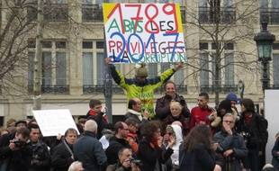 Des manifestations contre la corruption étaient organisées dans 40 villes françaises, dont ici à Paris, place de la République.