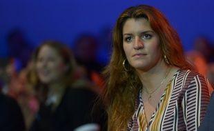 Marlène Schiappa lors d'un meeting à Aubervilliers, le 31 mars 2019.