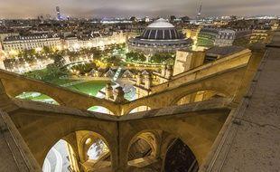 La vue depuis l'église Saint-Eustache dans le 1er arrondissement de Paris.