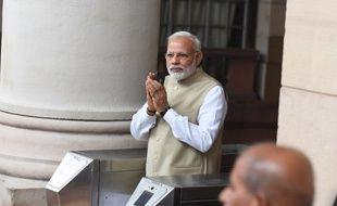 Le Premier ministre indien Narendra Modi le jour du vote pour élire le prochain président du pays