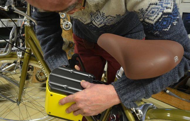 Un gravage anti-vol sur un vélo, au Vieux biclou, à Montpellier