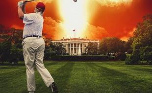L'affiche du film Fahrenheit 9/11 de Michael Moore
