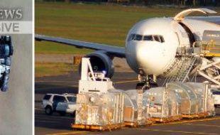 Une des toners d'imprimante suspects et un avion de UPS à Philadelphie, le 29 octobre 2010