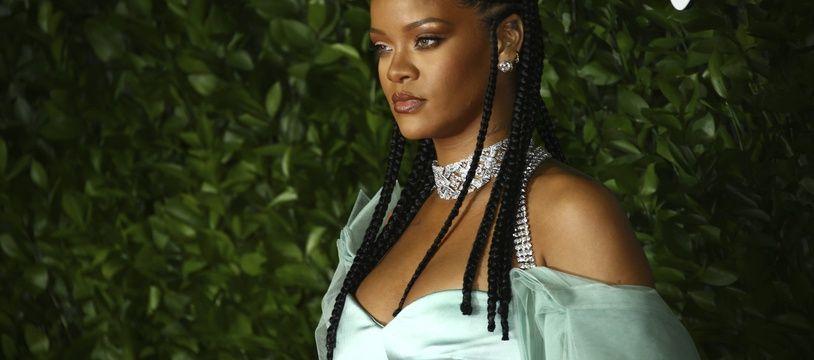 La chanteuse et créatrice de mode Rihanna aux British Fashion Awards, le 2 décembre 2019.
