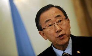 """Le secrétaire général de l'ONU Ban Ki-moon a salué mardi l'accord entre Khartoum et le plus militarisé des groupes rebelles du Darfour, signé à Doha (Qatar), le qualifiant d'""""avancée constructive""""."""