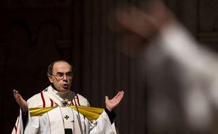 Le Cardinal Philippe Barbarin, à Lyon, à la cathédrale Saint Jean en 2016. Il comparaît ce lundi 7 janvier 2019 pour non dénonciation d'agressions sexuelles.