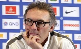Laurent Blanc lors d'une conférence de presse le 9 janvier 2015.
