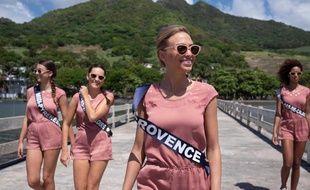 Miss Provence lors du voyage de préparation à l'île Maurice.