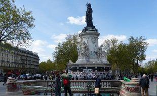 La place de la République le 2 mai 2016.