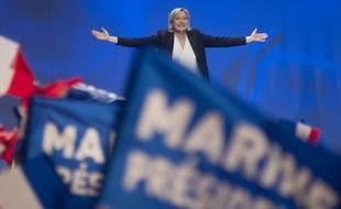 Marine Le Pen, le 26/02/2017 à Saint-Herblain près de Nantes. SEBASTIEN SALOM-GOMIS