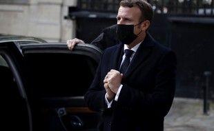 Emmanuel Macron à l'ambassade d'Autriche à Paris, le 3 novembre 2020.