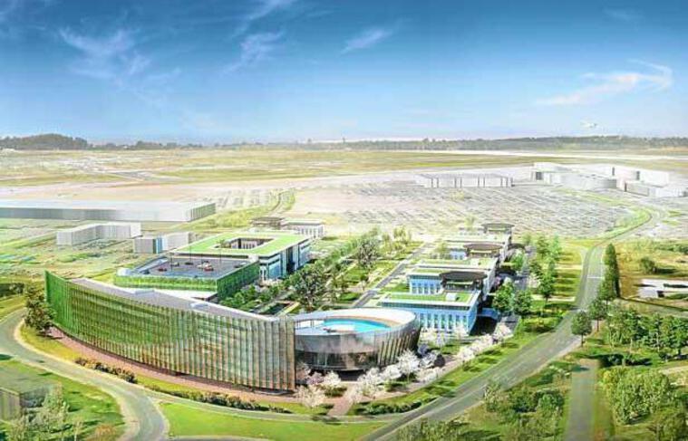 Le projet tertiaire de l'aéroport de Bordeaux comprend un hôte de luxe, un palais des Congrès et cinq immeubles de bureaux.