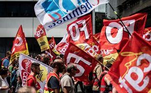 Une manifestation de cheminots à Lyon, le 12 juin 2018.