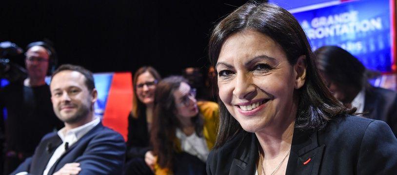 Anne Hidalgo et David Belliard lors du débat avant le premier tour