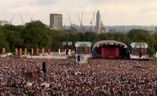 Concert de Paloma Faith à Hyde Park, à Londres, en Grande-Bretagne, le 14 septembre 2014.