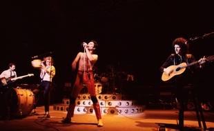 Queen en concert à Birmingham en Angleterre en 1979.