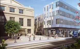 Image de synthèse du projet «Palais Gallien Fondaudège» de Belin Promotion à Bordeaux