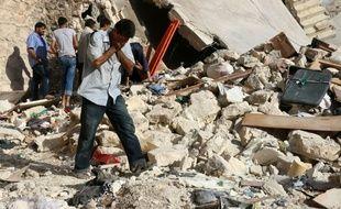 Le quartier de Sakhur, tenu par les rebelles à Alep, a été bombardé le 19 juillet 2016