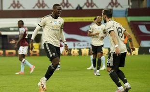 Paul Pogba a marqué pour la première fois depuis plus d'un an, lors de MU-Aston Villa, le 9 juillet 2020.