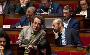 Gilles Le Gendre, président du groupe LREM à l'Assemblée, et Stanislas Guerini, le 27 novembre 2018 à l'Assemblée.