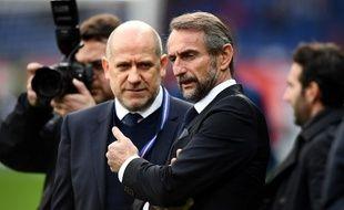 Antero Henrique et Jean-Claude Blanc, membres du staff du PSG.