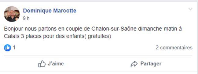 L'un des messages d'entraide postés sur la page Facebook.