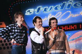 Gérard Filippelli, Jean-Guy Fechner et Gerard Rinaldi (de gauche à droite), membres des Charlots, en 1984.