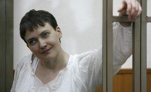 Nadia Savtchenko, lors de son procès à Donetsk le 29 septembre 2015.