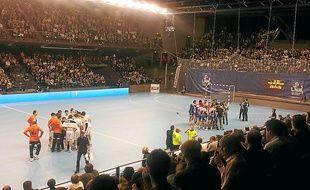 Cesson-Rennes avait reçu Montpellier au Liberté en mai 2012 et mars 2013.