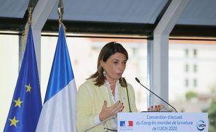 Martine Vassal lors d'une visite officielle de Nicolas Hulot en juin 2018