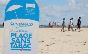 St Malo : la plage sans tabac