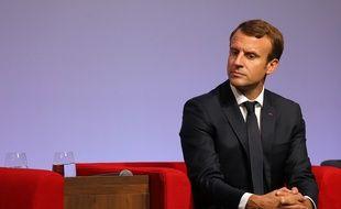 Emmanuel Macron à Egletons (Corrèze), le 4 octobre 2017.
