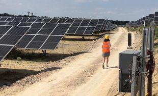 Près de 40.000 panneaux solaires ont été installés sur le site de l'ancienne mine de Pont-Péan.