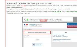 La DGFIP a alerté sur un faux site des impôts.