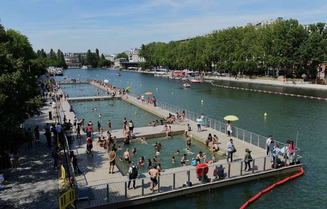 Fermé à la baignade lundi en raison de la détection d'une bactérie, le bassin de la Villette a rouvert mardi.